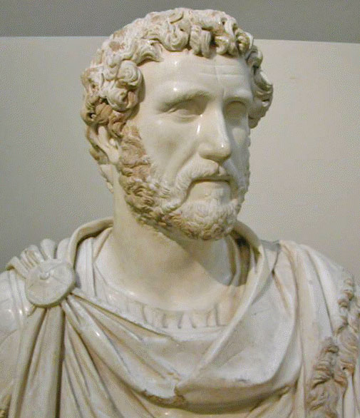 Busto marmoreo raffigurante l'imperatore Antonino Pio