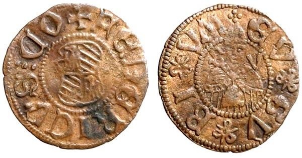 Picciolo di Federico da Montefeltro (Mi, mm 16 per g 0,46) battuto dallo zecchiere Corrado di Battista introno al 1467