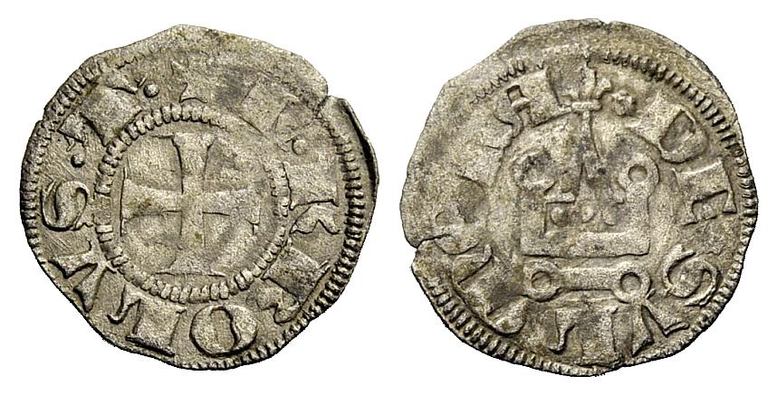 Tornese di Carlo III di Durazzo per Sulmona (1382-1385) al tipo classico (Mi, mm 18 ca. per g 0,85 ca.)