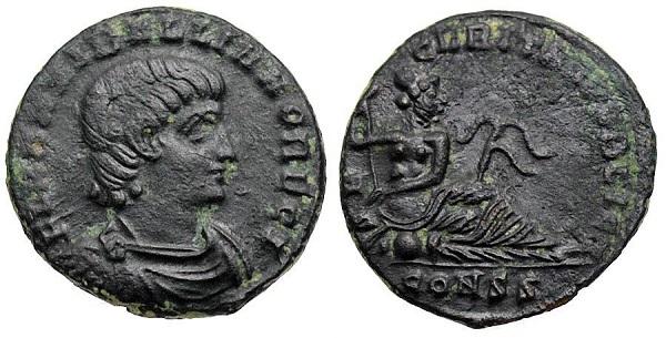 Follis di Annibaliano, zecca di Costantinopoli, 335-337, RIC VII, 147