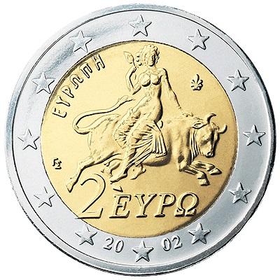 La bimetallica di circolazione greca, solo se in fior di conio costa qualche eruo più del valore nominale
