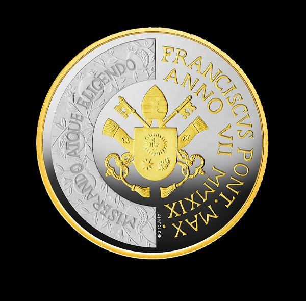Il dritto dei 10 euro dedicati alla Giornata mondiale della Pace nella versione argento con dorature