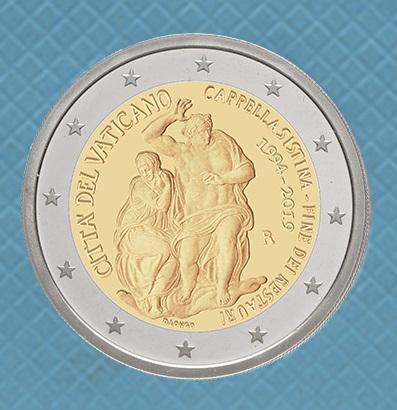 L'elegante modellato della nuova bimetallica commemorativa voluta dal Vaticano
