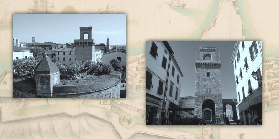 Il centro storico di Piombino mostra ancora oggi segni del suo passato di città portuale fortificata