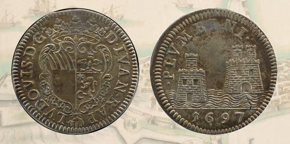 Fig. 3 | Giovan Battista Ludovisi: il mezzo tollero in argento con al rovescio lo stemma della Comunità di Piombino