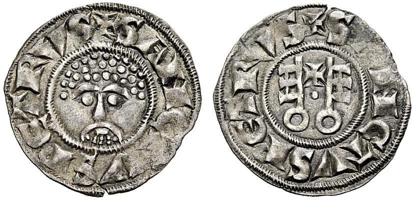 Grosso paparino della zecca di Roma con probabile volto di san Pietro