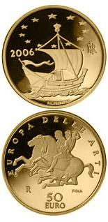 I 50 euro in oro d'Italia dedicati all'arte della Grecia classica