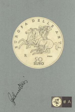 """Il disegno del rovescio con i due cavalieri del """"Fregio Panatenaico"""""""