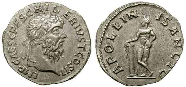 Tra le monetazioni più bersagliate dai falsari c'è quella romana: ecco una moneta contraffatta a nome dell'imperatore Prescennio Nigro