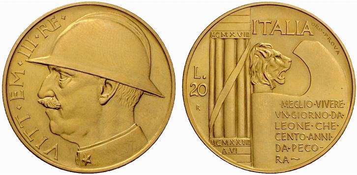 """La prova in oro """"dei marescialli"""", sogno proibito di tanti collezionisti di Regno d'Italia"""