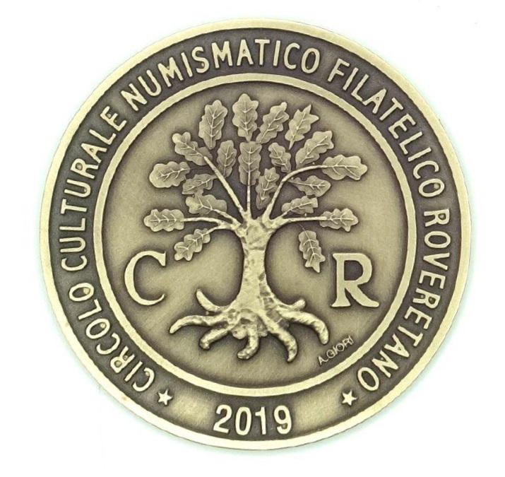 Il tradizionale rovescio delle medaglie edite dal CCNFR