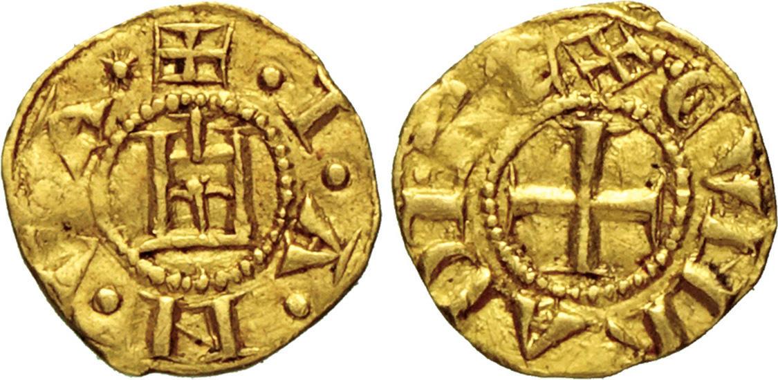 Raro esemplae di quartarola genovese in oro del peso di circa g 0,88