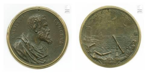 Risale alla fine del Seicento questa bella medaglia dedicata a Galileo