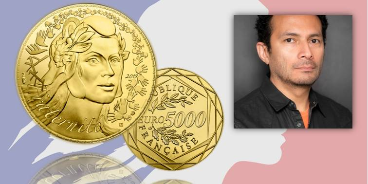 La nuova moneta da 5.000 in oro di Francia da 5.000 euro e il designer Joaquim Jimenez