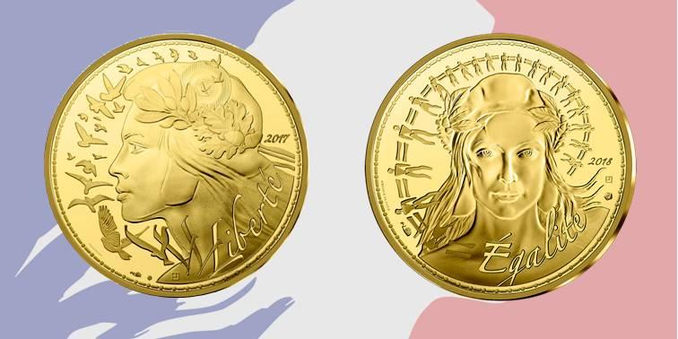 Le allegorie di Libertà e Uguaglianza effigiate in moneta nel 20178 e nel 2018