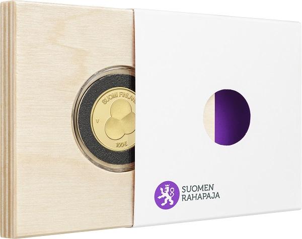 Sui 100 euro di Helsinki stesso soggetto usato per i 2 euro e, al rovescio, una miriade di puntini a simboleggiare il popolo finlandese