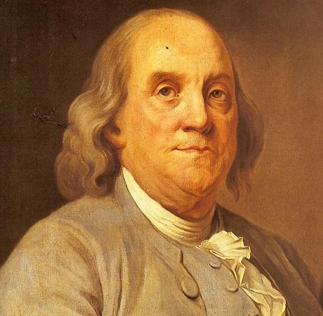 Fu Benjamin Franklin a disegnare la prima moneta a stelle e strisce