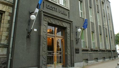 La sede centrale della Eesti Pank a Tallinn: il paese baltico conierà 10 milioni di euro centesimi quest'anno