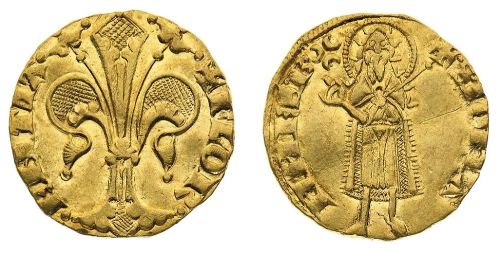 Firenze. Repubblica (1189-1532). Fiorino d'oro stretto databile al periodo 1332-1348