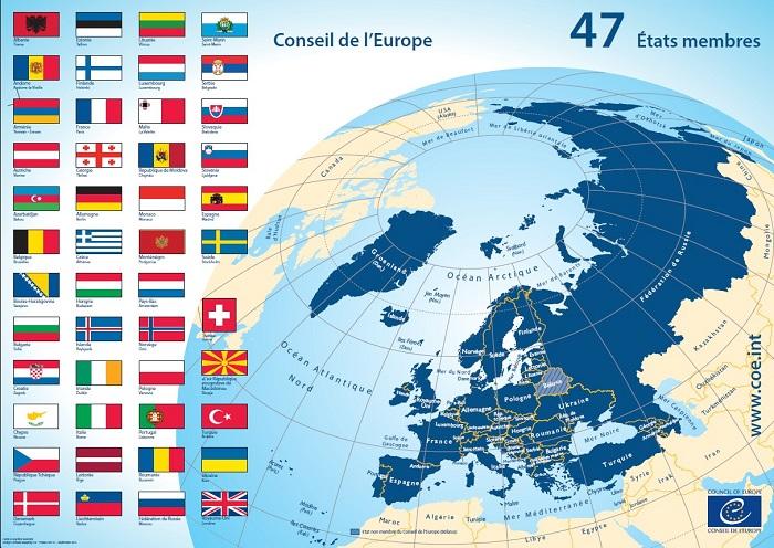 Dalla Groenlandia alla Russia, il CoE rappresenta 47 paesi per circa 800 milioni di persone