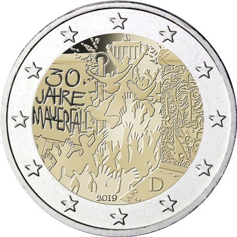 I 2 euro prodotti dalle cinque zecche tedesche