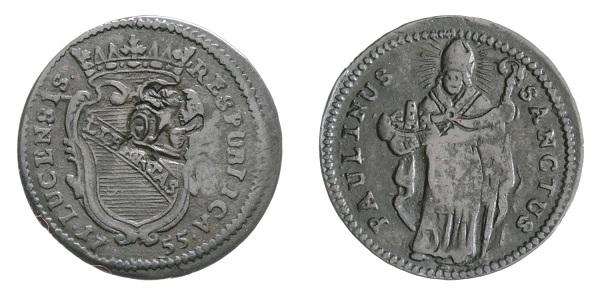 Un altrro quattrino di Lucca al tipo di san Paolino, di fine XVIII secolo