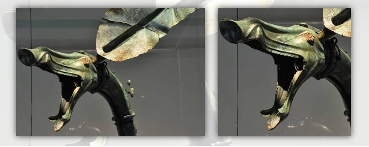 3. Padiglione zoomorfo del carnyx rinvenuto nel sito francese di Tintignac, I secolo a.C.