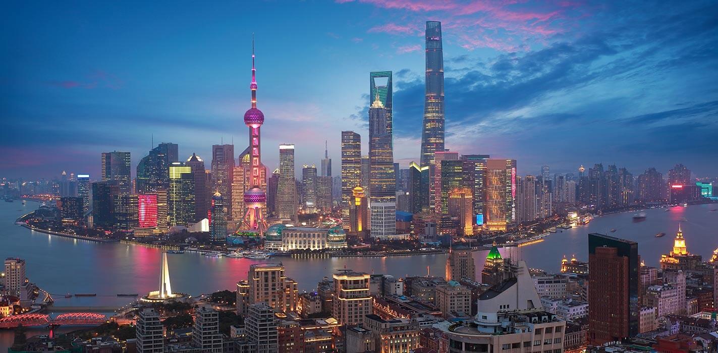 Un'impressionante veduta di Shanghai, città-regione cinese ad amministrazione speciale dove hanno avuto luogo il forum e il contest dedicati al design di monete