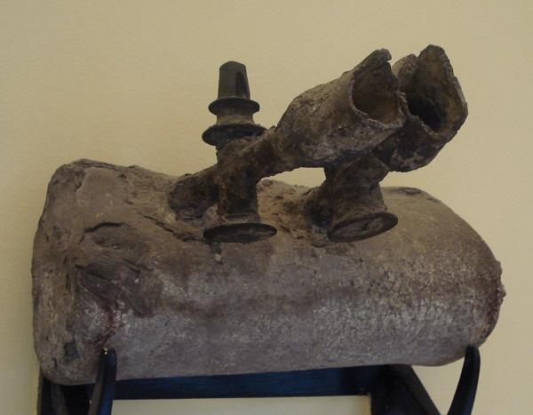 Tubature romane in piombo conservate nel Museo archeologico di Palermo