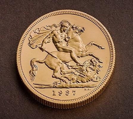 Ecco il rovescio della sovrana millesimata 1937 che la Royal Mint ha ceduto ad un privato per un milione di sterline
