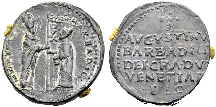 Agostino Barbarigo doge LXXIV (1486-1501) Bolla in piombo (Ranieri 9, 2016, lotto 919)