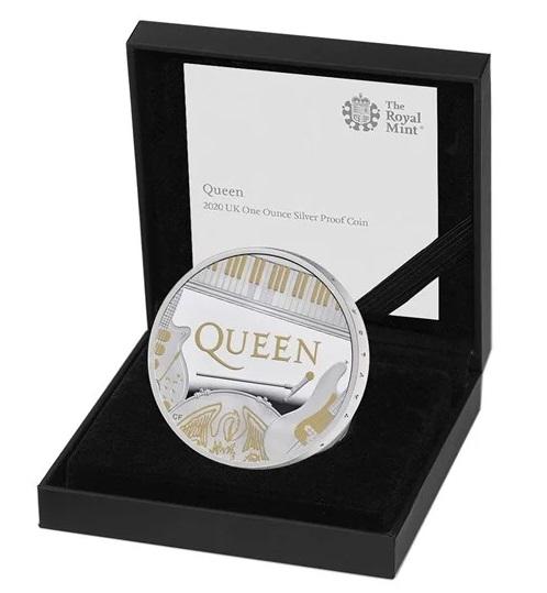 Applicazioni in oro sul rovescio dell'oncia d'argento proof coniata dalla Royal Mint
