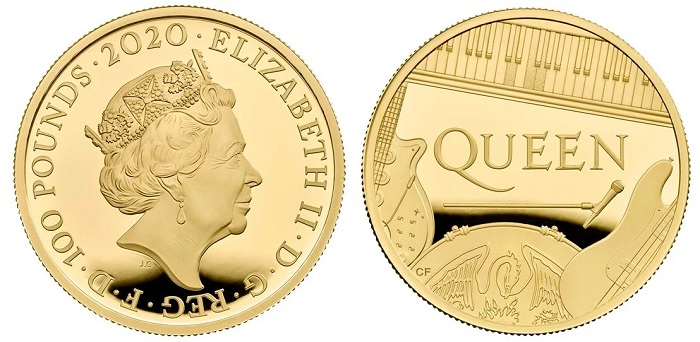 """Sono appena trecento e costano oltre duemila sterline ciascuna le once in oro proof che sono in programma per celebrare i Queen, una delle """"Music Legends"""" d'Oltremanica"""