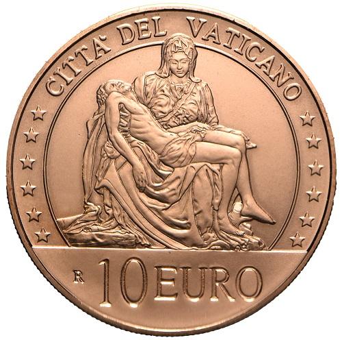 Il Vaticano sceglie Michelangelo per la sua prima 10 euro in rame che sarà in vendita dal 5 marzo in 43 mila pezzi