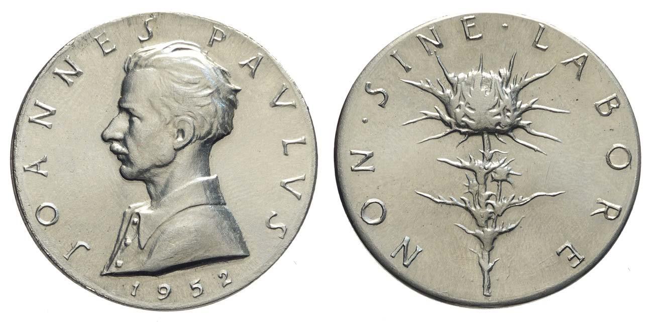 """La versione coniata da mm 33 della medaglia vista online come """"dedicata a un botanico olandese"""""""