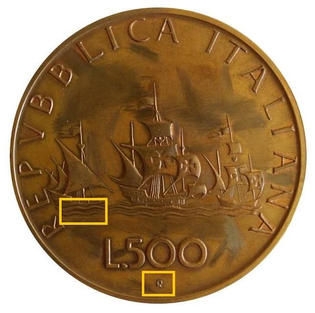Manca la firma di Guido Veroi, sulla coniazione in bronzo del nostro lettore, e il segno di zecca R è appena accennato, perchè?