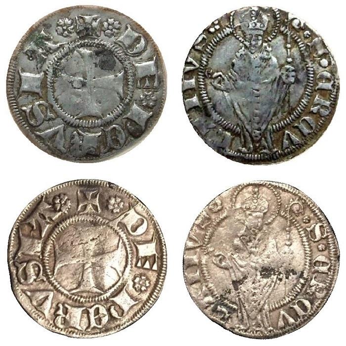 I due esemplari finora certi di agontano di Perugia, quello pubblicato nel 2011 e quello apparso in rete nel 2017, oggetto di discussione su alcuni forum