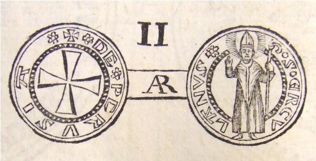 Lo storico, manon così attendibile disegno settecentesco che testimoniava l'aspetto del grosso perugino al tipo di Ancona di tardo XIV secolo