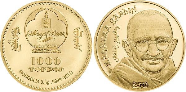 Ecco la micro moneta in oro proof da appena mezzo grammo dedicata al padre della non violenza