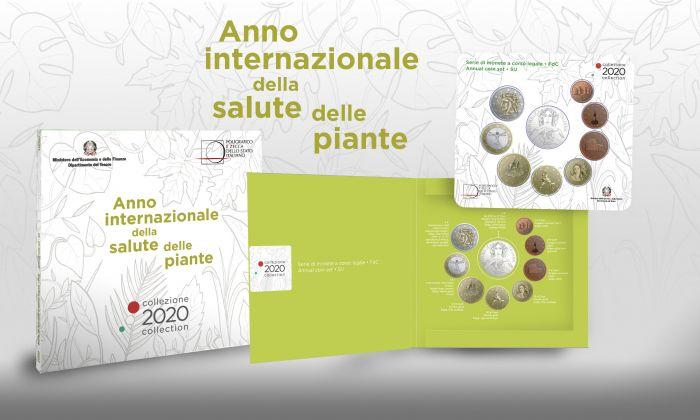 L'astuccio in tema natura nel quale è confezionata la serie annuale 2020 d'Italia in Fdc