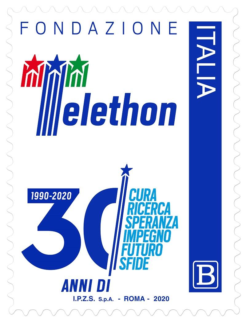 Il francobollo per Fondazione Telethon