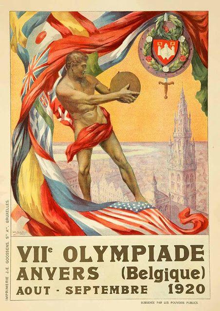 Venne scelto anche per il manifesto ufficiale di Anversa 1920 il discobolo, simbolo dello sport e del legame tra le Olimpiadi classiche e quelle moderne