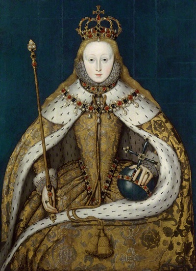 Ritratto di Elisabetta I negli anni appena seguenti l'incoronazione, opera di ignoto artista del XVI-XVII secolo
