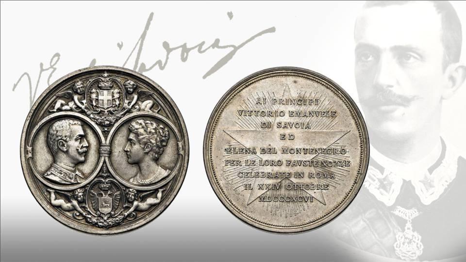 """Nel 1896 il principe aveva sposato Elena di Montenegro e """"Jela"""", come la chimava affettuosamente Vittorio Emanuele, condivise sempre la passione numismatica del consorte"""