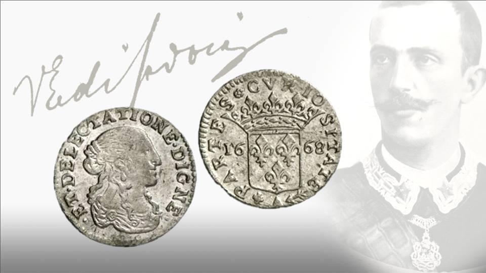Nella sua lettera al colonnello Giuseppe Ruggero, appassionato di monete liguri, il principe parla anche di coniazioni monegasche citando un rarissimo tallero e il luigino anonimo del 1668