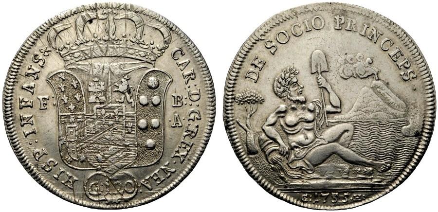 """Paese che vai, moneta (e fiume) che trovi... Il Sebeto delle piastre napoletane fu di """"ispirazione"""" per l'osella del Brenta coniata da Venezia qualche decennio dopo?"""