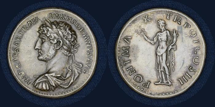 Tesori dal Monetiere di Palazzo Blu: medaglione, Roma, Adriano,119-121 (argento mm 32 g 35)