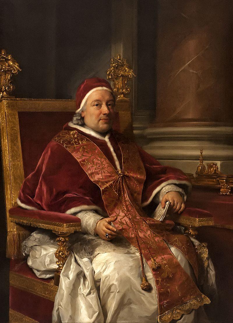 Ritratto di Clemente XIII Rezzonico, papa dal 1758 al 1769