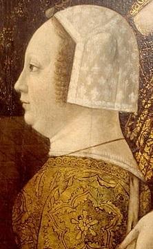 Bona di Savoia (1449-1503), moglie di Galeazzo Maria Sforza duca di Milano ucciso il 26 dicembre 1476