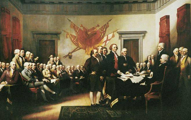 La firma della dichiarazione di indipendenza americana, il 4 luglio 1776, rappresenta non solo l'atto di autodeterminanzione di una nuova nazione, ma anche la definizione dei suoi valori incrollabili